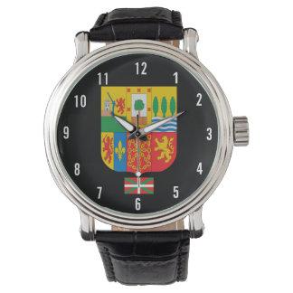BASQUE* Wappen und Flaggen-Uhr Handuhr