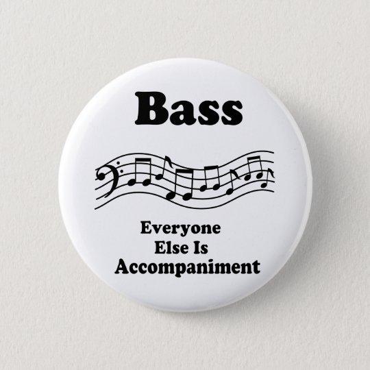 Bass-Chor-Geschenk Runder Button 5,1 Cm