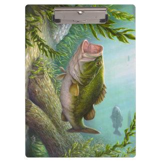 Bass-Fische Klemmbrett