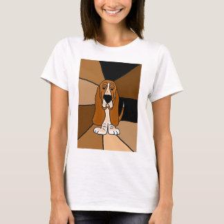 Basset Hound-Hundekunst T-Shirt