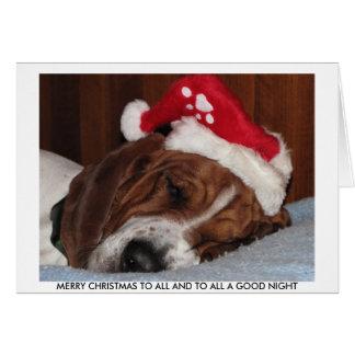 Basset Hound-Weihnachtskarte Grußkarte