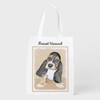 Basset Hound-Welpe Wiederverwendbare Einkaufstasche