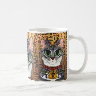 Bast-Göttin Bastet ägyptische Katzen-Kunst-Tasse Tasse