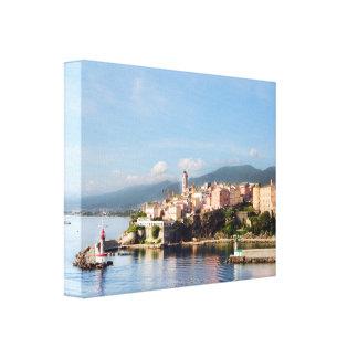 Bastia, Korsika wickelte Leinwand ein Leinwand Druck