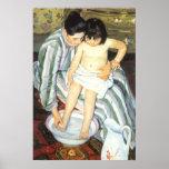 Bath de l'enfant par Mary Cassatt, beaux-arts Posters