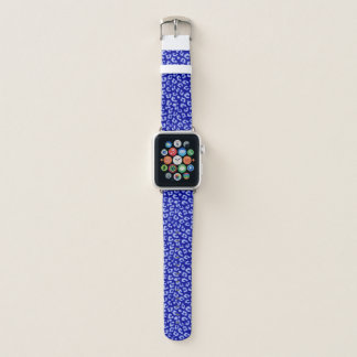 Batik-blaues Leopard-Band Apple Watch Armband