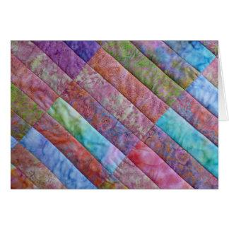 Batik-Schönheit - Stich in den Zeit-Reihen Karte