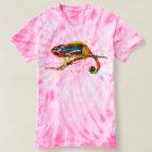batik t-shirt mit handgemaltem Chameleon