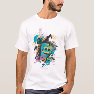 Batman-Neon die dunkle Ritter-Collage T-Shirt