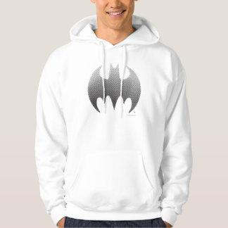 Batman-Symbol Schwarz-weißes | verblassen Logo Hoodie