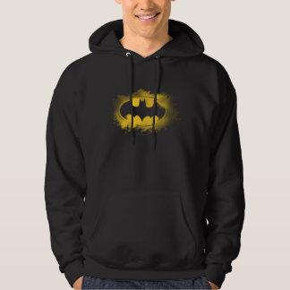 Batman-Symbol | schwarzes und gelbes Logo Hoodie
