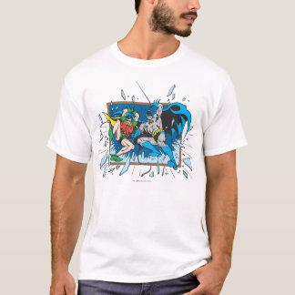 Batman u. Robin-Trümmer-Fenster T-Shirt