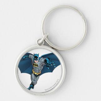 Batman und Joker mit Karten Silberfarbener Runder Schlüsselanhänger