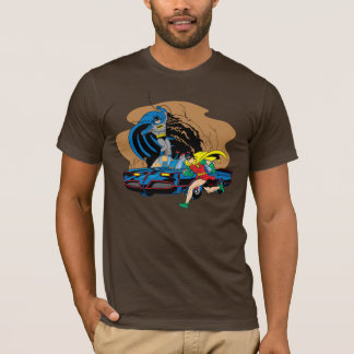 Batman und Robin in Batcave T-Shirt