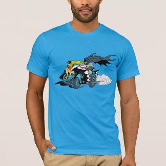 Batman und Robin in Batcycle T-Shirt