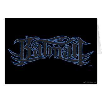 Batmanblau und -gotische Schriften Grußkarte