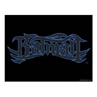 Batmanblau und -gotische Schriften Postkarten