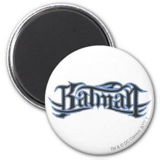 Batmanblau und -gotische Schriften Runder Magnet 5,1 Cm