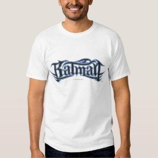 Batmanblau und -gotische Schriften Shirts