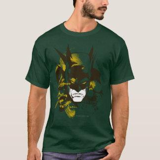 Batmanhaube und -schädel T-Shirt