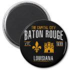 Baton Rouge Runder Magnet 5,1 Cm