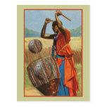 Batteur africain - cadeaux et habillement d'amants cartes postales