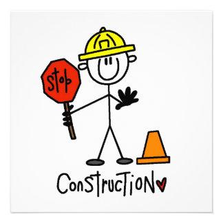 Bau-Arbeitskraft-Strichmännchen Ankündigung