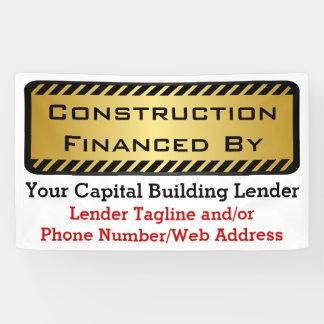 Bau finanziert durch Bank-Entwickler-Job-Zeichen Banner