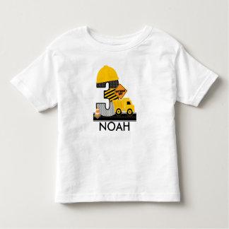Bau-Geburtstags-Shirt, Kipper-Alter 3 Kleinkind T-shirt