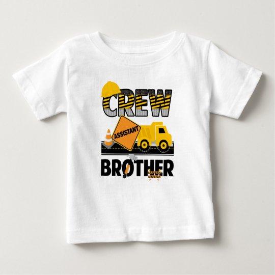 Bau-Geschwister-Shirt, Kipper-Geburtstag Baby T-shirt