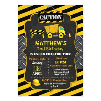 Bau-Kipper-Geburtstags-Einladungen 12,7 X 17,8 Cm Einladungskarte