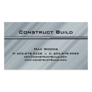 Bau-Metallgeschäfts-Karten-berufliches Bar Visitenkarten Vorlagen