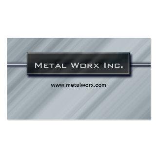 Bau-MetallVisitenkarte-Titel-Kasten-Chrom