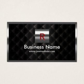 Bau-Stahlgrenzmonogramm-Luxus-Schwarzes Visitenkarte