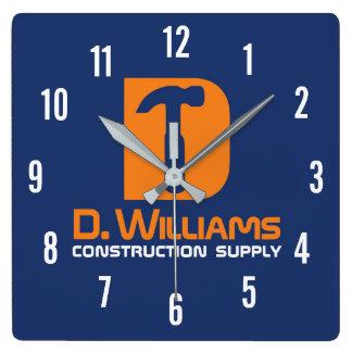Bau-Versorgung D Williams Quadratische Wanduhr