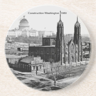 Bau-Washington-Untersetzer Sandstein Untersetzer