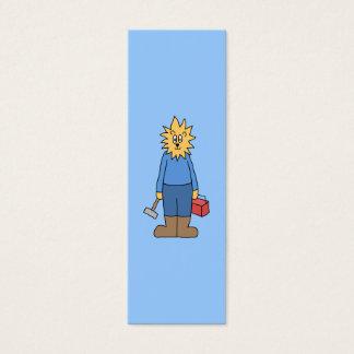 Bauarbeiter-Löwe Mini-Visitenkarten