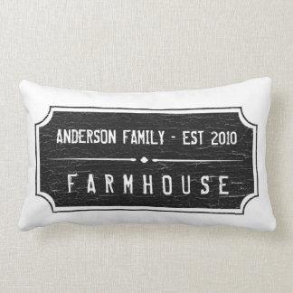 Bauernhaus-Familien-Zeichen-Kissen Zierkissen
