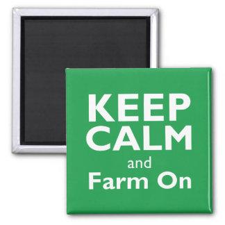 Bauernhof an quadratischer magnet