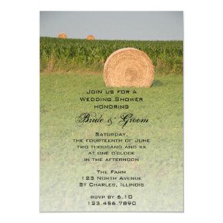 Bauernhof-Heu-Ballen-Land-Polterabend-Einladung Karte