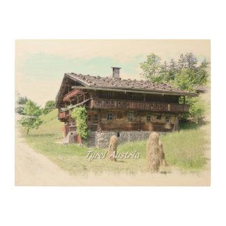 Bauernhof Holzdruck