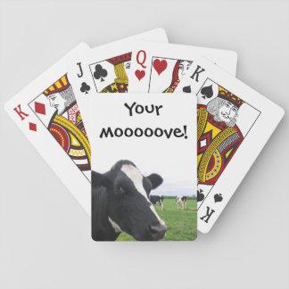 Bauernhof-Scheunen-Tier-Vieh lustige Kuh-MOO Spielkarten
