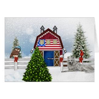 Bauernhof-Weihnachtskarte Karte