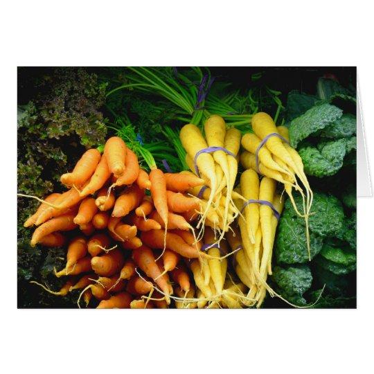 Bauersmarktkarotten Grußkarte
