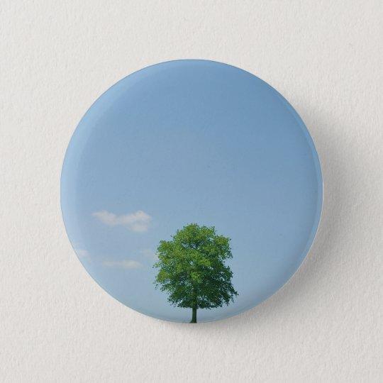 Baum auf einem Gebiet 2 Runder Button 5,1 Cm