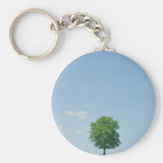 Baum auf einem Gebiet 2 Schlüsselanhänger