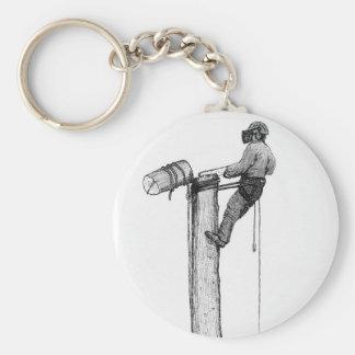 Baum-Chirurg-Baumzüchter-Förster Schlüsselanhänger