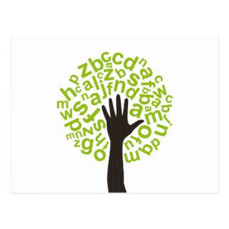 Baum das Alphabet Postkarte