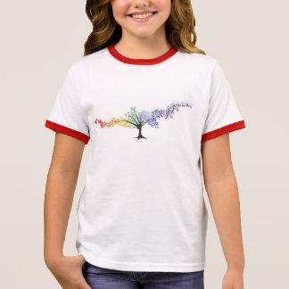 Baum der farbigen Schmetterlinge Ringer T-Shirt