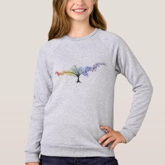 Baum der farbigen Schmetterlinge Sweatshirt